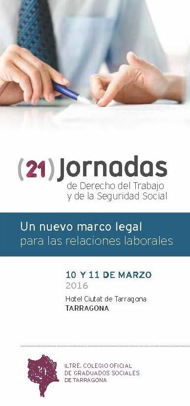 Xxi Jornadas De Derecho Del Trabajo Y De Seguridad Social